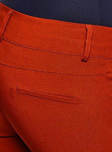 oodji Ultra Donna Pantaloni Elasticizzati Slim Fit Rosso (4500N)
