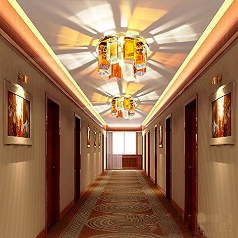 CAC Moderno 3W LED luci a soffitto apparecchi di illuminazione gli apparecchi di illuminazione per Entrata Soggiorno bianco luce bianca calda Chanderlier Apparecchio di illuminazione giallo bianco caldo