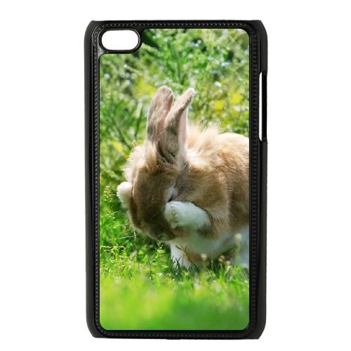 TOPDIY DIY Phone Case for Ipod Touch 4 with Bunny Complex