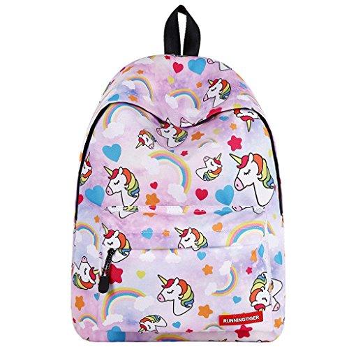 Einhorn Rucksack für Mädchen,Kinder Schultaschen Kinder Back to School Rucksack Erwachsene Rucksäcke Kind Teens Outdoor Daypack (To Für Back Mädchen School)
