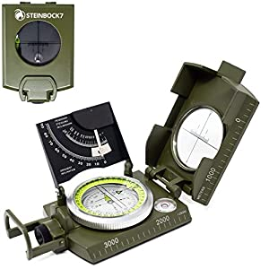STEINBOCK7 Marschkompass Outdoor Kompass Peilkompass