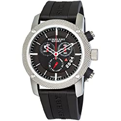 BURBERRY BU7700 - Reloj para hombres, correa de goma
