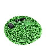 LARS360 Flexibler Gartenschlauch raktisch Dehnbarer Wasserschlauch Flexibel Schlauch ausgedehnt mit Brause für Haus und Garten zur Gartenbewässerung Rasenbewässerung (50FT - 15M, Grün)