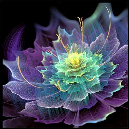 Yeefant Colorful Flower Stickerei Gemälde Kein Verblassen 5D Leinwand Strass eingefügt eingefügt DIY Diamant Kreuzstich Home Wanddekoration für Schlafzimmer Wohnzimmer 12x12 inch MulticolorK (Flugzeug Paint Kit)