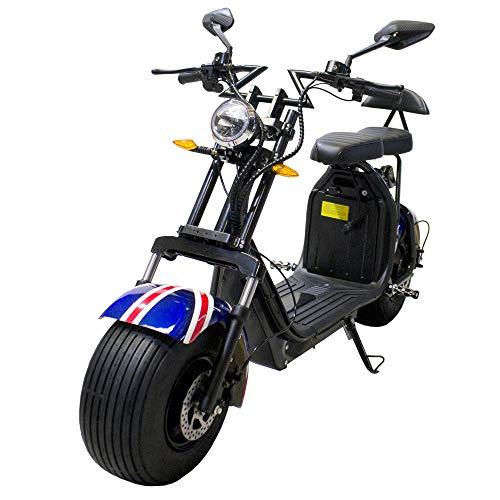 Moto eléctrica CityCoco Last Mille. Potencia 2000W/18.2aH (Doble Batería).Modelo Bandera Britanica/Negro (Version XI)