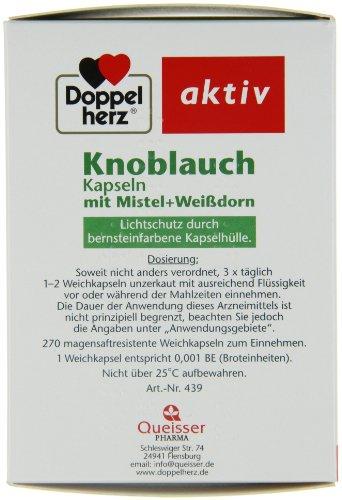 Doppelherz Knoblauch Kapseln mit Mistel und Weißdorn, 270er - 3