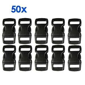 50X Kunststoff Verschluss Klickverschluss Steckschliesser
