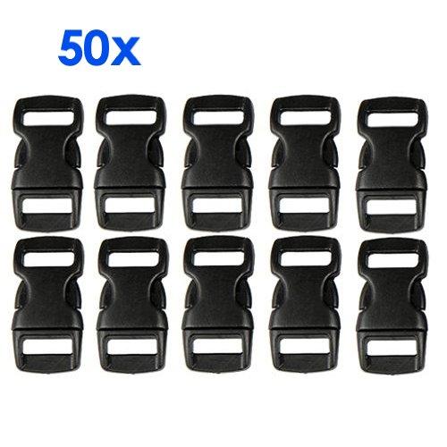 gleader-50-pcs-plastic-contoured-side-release-buckles-for-paracord-bracelets