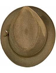 Mens UNITED CHAPELIERS CHAPELLERIE INT&PAC TRAVAILLEURS UNION Plaid Fedora Hat Size 7 1/8
