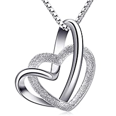 Idea Regalo - B.Catcher Collana da donna a cuore in argento per donne, collane con pendente in argento sterling 925, regalo per la festa della mamma,18