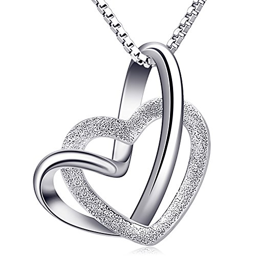 B.Catcher Collana da donna a cuore in argento per donne, collane con pendente in argento sterling 925, regalo per la festa della mamma,18 '