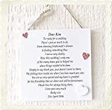 Thank You Gift Bridesmaid Personalised Wedding Plaque Wooden Card W248