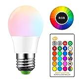 ONEVER 5W RGB LED Ampoule E27 Changement de couleur LED Changement Atmosphere lampe flash Mode Strobe Fade Bar KTV lumières décoratives (1PCS)