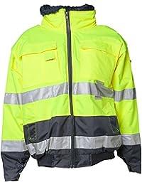 Planam Comfort-Jacke Warnschutz, Größe XL, gelb / marine, 2047056