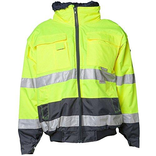 Planam 2047072 - Cómoda chaqueta de protección de la advertencia, 5xl tamaño, de color amarillo/azul marino