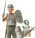Ritter Set 4tlg Ritterset für Kinder Helm,Schwert,Brustschutz ,Schild
