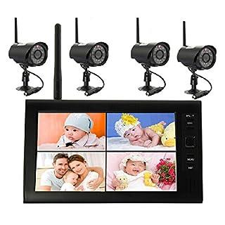 D15 2,4G Funk Kamera Set 4x Überwachungkamera + 7