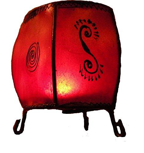 commerce-equitable-chevre-fer-marocain-main-pinted-henne-rond-lampe