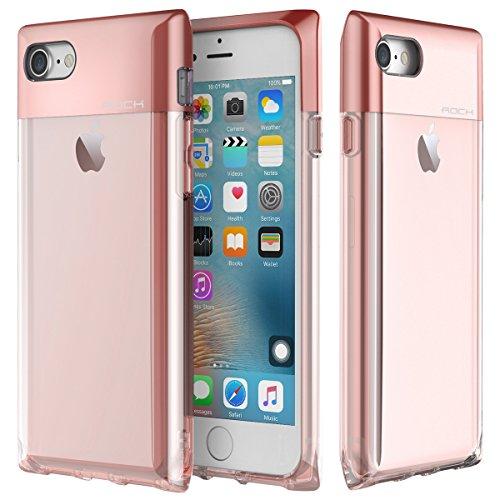 Custodia iPhone 7 Case,ROCK Serie Bottiglia di Profumo Telefono Caso,[Elegante][Ragazza][Carino][Romantico][PC+TPU][Trasparente]per Apple iPhone 7(4.7inch) - Rose (Serie Bottiglia Di Profumo)