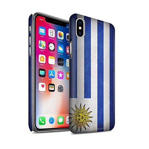 STUFF4 Matte Snap-On Hülle / Case für Apple iPhone X/10 / Australien/australisch Muster / Flagge Kollektion Uruguay/Uruguayischen