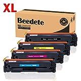 XL Beedete Kompatible Tonerkartusche Für HP 410A 410X (CF410X, CF411X, CF413X, CF412X), LaserJet Pro M452dn, M452dw, M452nw, M477fdw, M477fnw, M477fdn, Schwarz 6500 Seiten, Color je 5000 Seiten