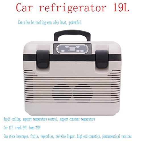 Preisvergleich Produktbild Natood 19L Portable Compressor Refrigerator / Freezer Refrigeration Heating Temperature Control Thermostat Refrigerator Car Household Mini Refrigerator 12v / 24v / 230v Size 44 * 31 * 34cm