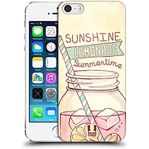 Head Case Designs Lemonade My Kind of Summer Protective Snap-on Hard Back Case Cover for Apple iPhone 5