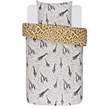 Covers & Co Bettwäsche Saren Sand Giraffe Renforcé, 135x200 cm + 80x80 cm