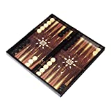 Atilla Tavla 3in1 XL Brettspiel - Backgammon - Tavla - Schach - Dame 47x47cm