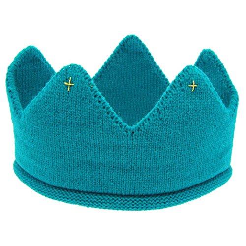 Hunpta Neue süße Baby Jungen Mädchen Krone Strick Stirnband Hut (Blau)