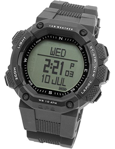 [LAD WEATHER] GPS Uhr/Herzfrequenz-Brustgurt/USB-Kabel Digitaler Kompass Höhenmesser Navigation Pulsmesser Kalorienzähler Sportuhr Armbanduhren -