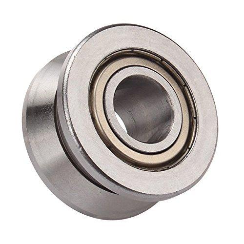 V, Guide con cuscinetti a sfera in acciaio-Guida scorrevole per porta 10 × 30 × 14 mm