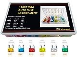 Act KFZ-Sicherungen, 120-Stück-Set, verschiedene kleine Blattsicherungen für Auto, KFZ, LKW, SUV, Zuhause (5/10/15/20/25/30A Ersatz-Sicherung)