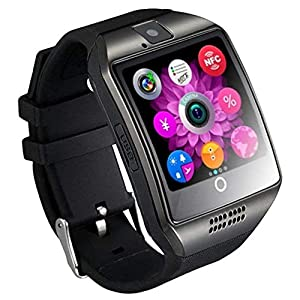 Q18 Smart Watch Smartwatch Bluetooth Sweatproof Telefon mit Kamera TF/SIM Kartensteckplatz für Android und iPhone Smartphones für Kinder Mädchen Jungen Männer Frauen Schmuck