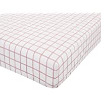 Catherine Lansfield Brushed Tartan Check Cotton King Fitted Sheet Red