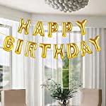 "GrandShop 50468 ""HAPPY BIRTHDAY"" Letters Foil Balloons - Golden"