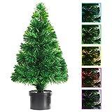 vidaXL Künstlicher Weihnachtsbaum 64 cm Glasfaser Christbaum Tannenbaum Tanne