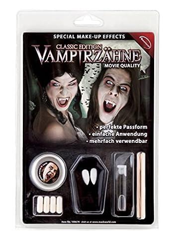 Vampirzähne Deluxe-Set inkl. Zahnkleber (Vampir Kostüm Diy)