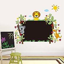 zooarts Animal Floral pizarra pared adhesivos adhesivo para niños habitación de los niños decoración
