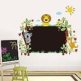 zooarts Animal Floral Tafel Wandaufkleber Aufkleber für Kinder Kinder Room Decor