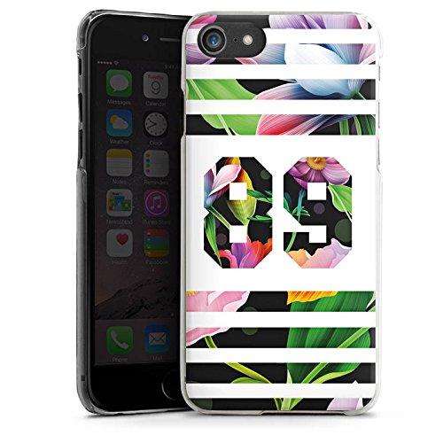 Apple iPhone X Silikon Hülle Case Schutzhülle Flower Blumen College Style Football Hard Case transparent