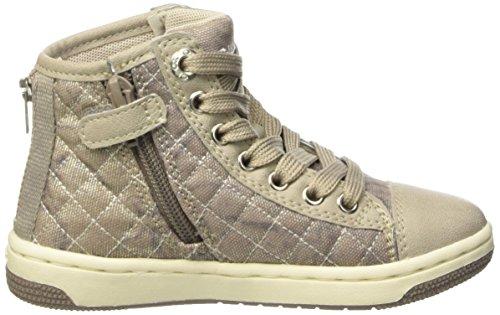 Geox Jr Creamy B, Sneakers Hautes Fille Beige
