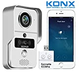 konx® kw02 °C Doorbell Intercominstallatie Video 720p IP + WiFi + relais deur + RFID badge + Full Duplex + Bel 433 MHz