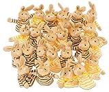 Betzold 58843 - Osterhasen-Eierwärmer, 25 Stück – Dekoartikel für Ostern, Hasen in braun und gelb