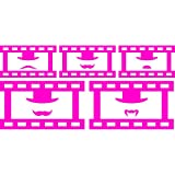 Funny fancy set of movie film tape frame mustache hat humor (28 cm x 60 cm) Colour Pink Bathroom, Childs Bedroom, Children Room Stickers, Car vinyl, Windows and Wall Sticker, Wall Windows Art, Decals, Ornament Vinyl Sticker ThatVinylPlace