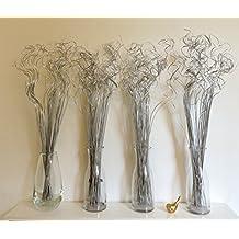 4ramilletes de único indio seca de hierba 70de plata 75cm de altura 100gramos de peso por ramo