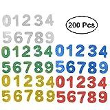 Healifty 180pcs Pasters Numbers 0-9 autoadhesiva Brillante Respaldo no Tejido EVA Handmade Crafts Pegatinas para niños niños (Color Surtido)