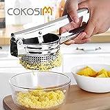 COKOSIM Edelstahl Kartoffelpresse und Spätzle mit Griff Silber