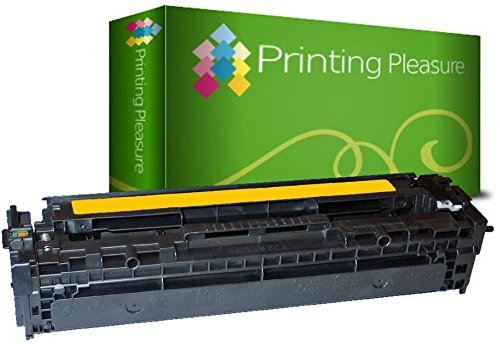 Printing Pleasure Toner kompatibel für HP Laserjet Pro 200 Color M251n M251nw MFP M276n M276nw CM1312 CM1312nfi MFP CP1215 CP1515 CP1515n CM1415fn CM1415fnw CP1525n CP1525nw - Gelb, hohe Kapazität (Tonerkassette 131 Hp)