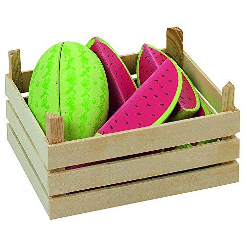 Goki 51673 - Kaufläden und Zubehör - Melonen, Obstkiste